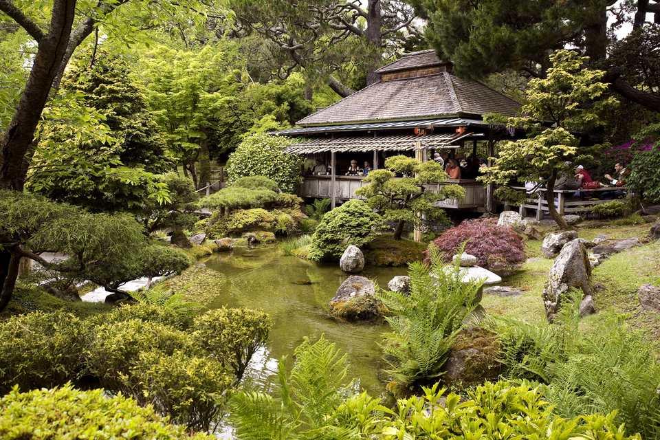 United States, California, San Francisco, Golden Gate Park, the Japanese Tea Garden
