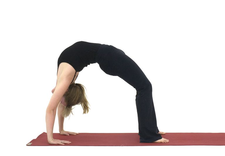 woman doing Wheel Pose - Urdhva Dhanurasana