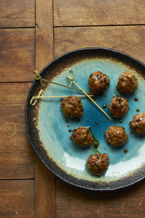 Japanese Chicken-Pork-Mushroom Blended Meatballs