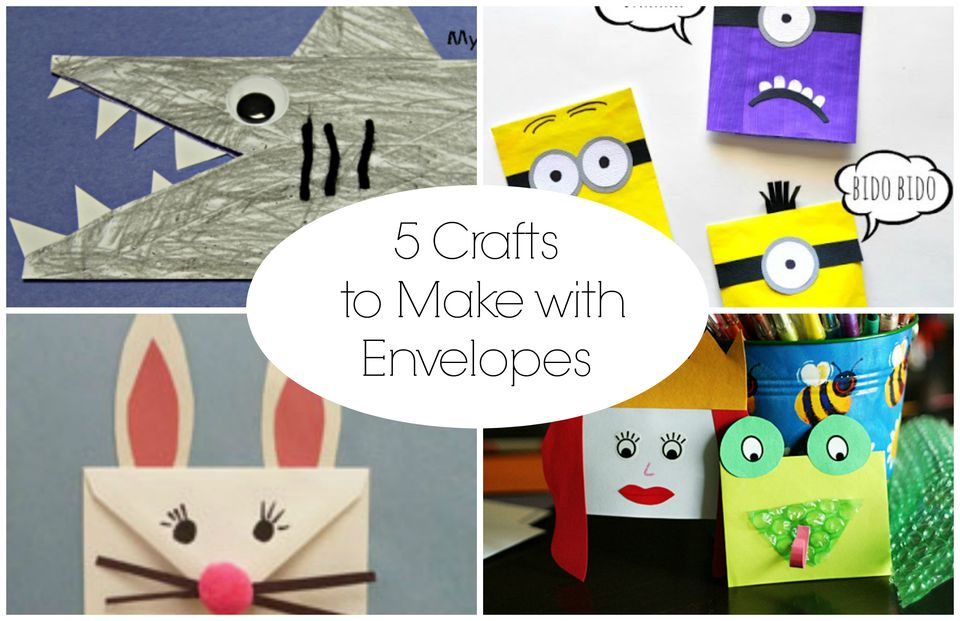 5 Crafts to Make with Envelopes
