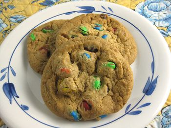 Delicious Soft And Chewy Cookies With M M Candies