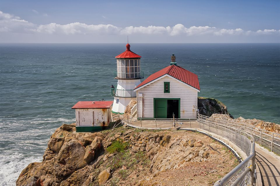 Point Reyes Lighthouse on a Sunny Day