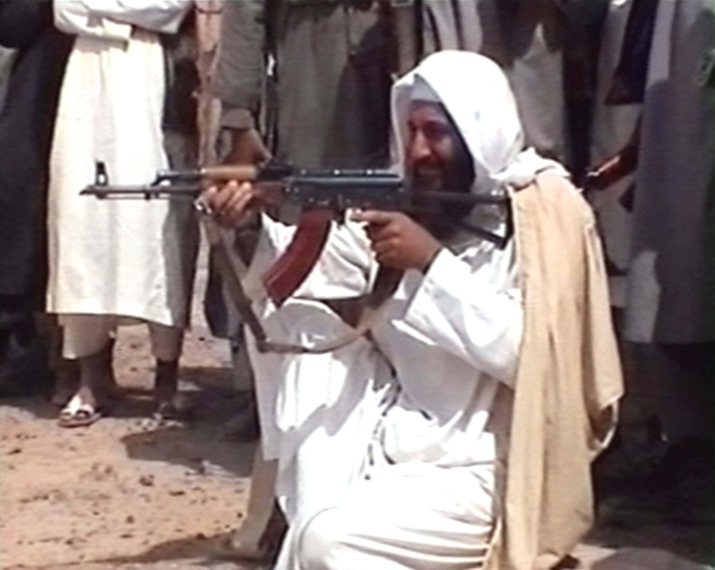 Osama Bin Laden Shooting Ak 47 Bin Laden's 1996 Decla...