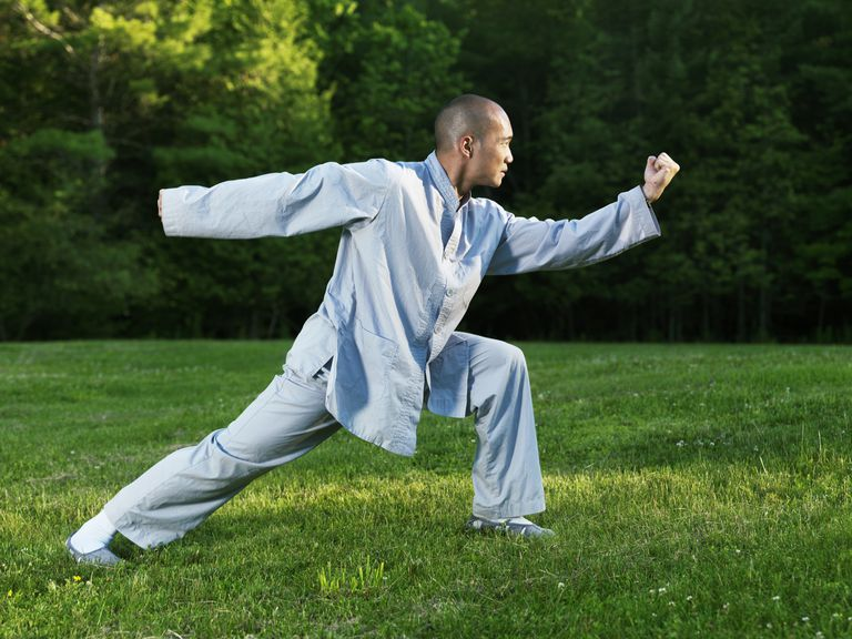 Man doing Kung Fu