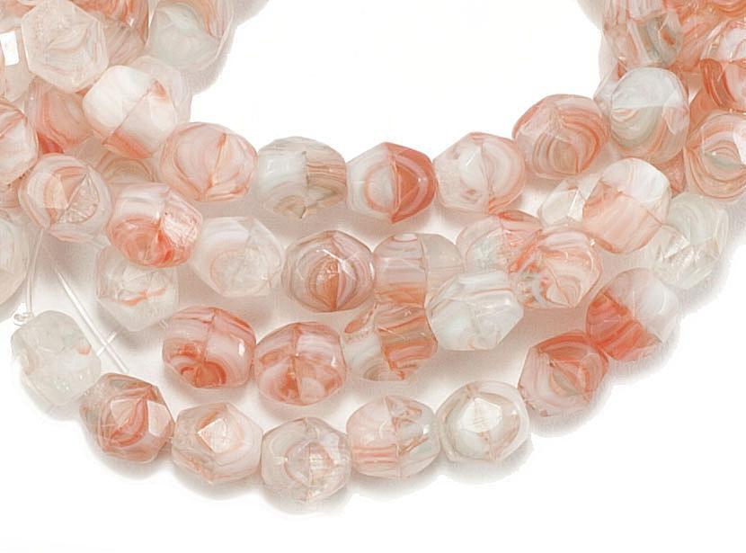 Czech fire polished glass beads