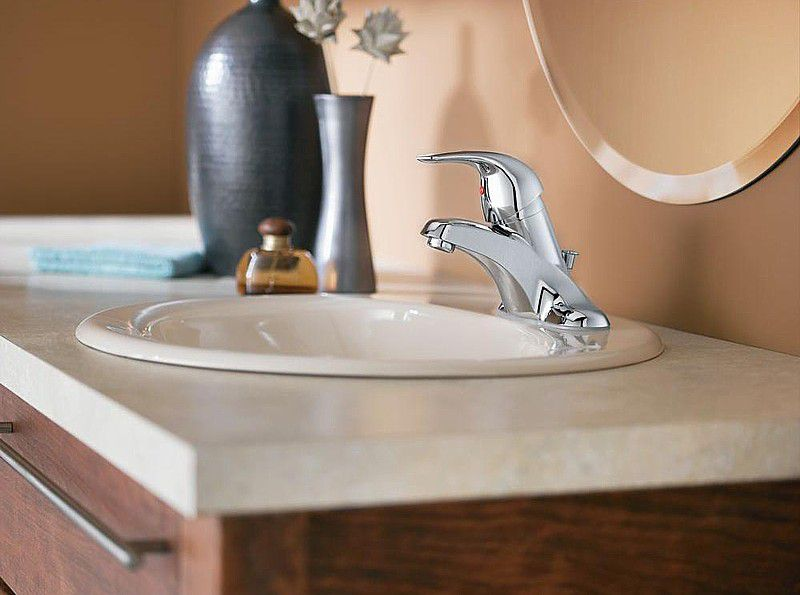 Installing a new bathroom faucet in a new vanity top - How to install a bathroom vanity ...