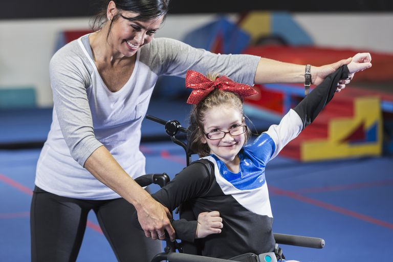 Sports for disabled children - cheerleading