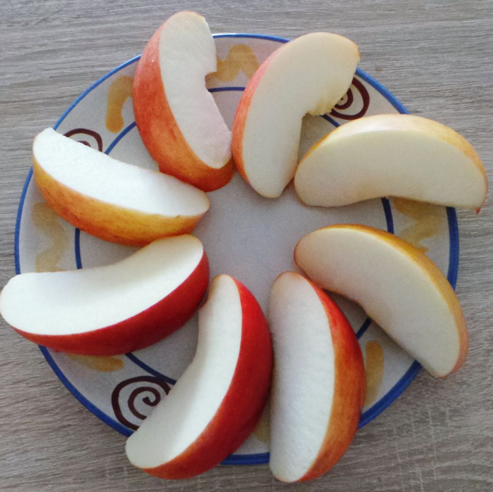 Close-Up Of Slices Of Apple