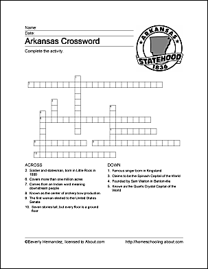 Arkansas wordsearch crossword puzzle and more arkansas crossword puzzle ccuart Gallery