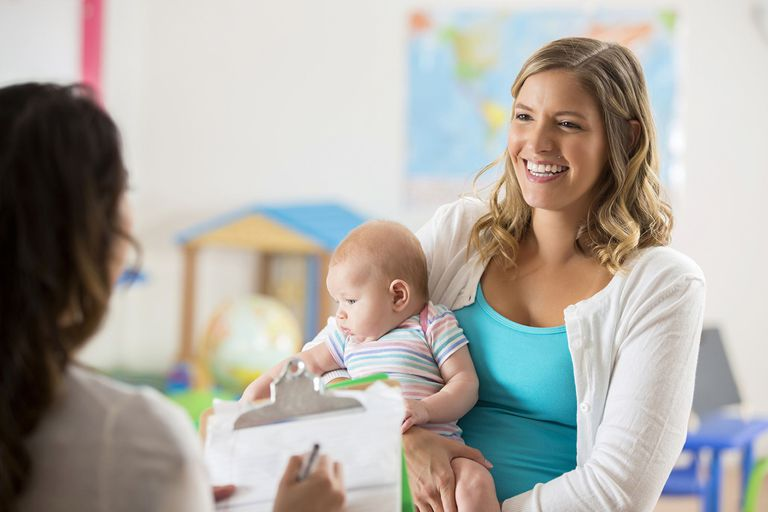 A picture of a woman interviewing a nanny