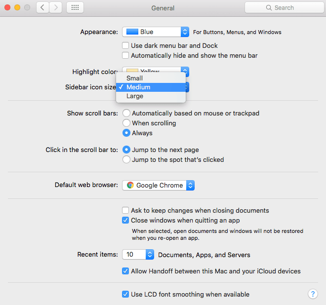 general preference panel