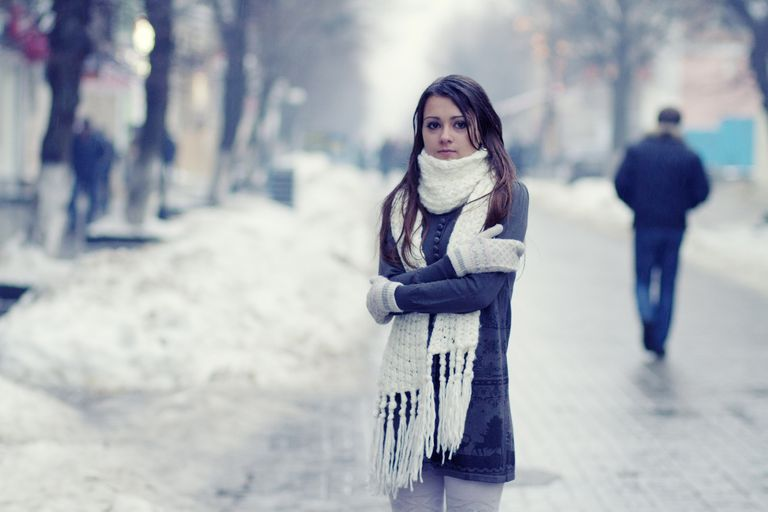 female feeling cold