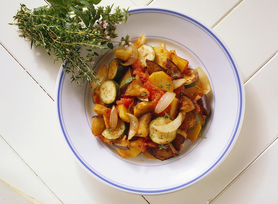 Ratatouille with eggplant