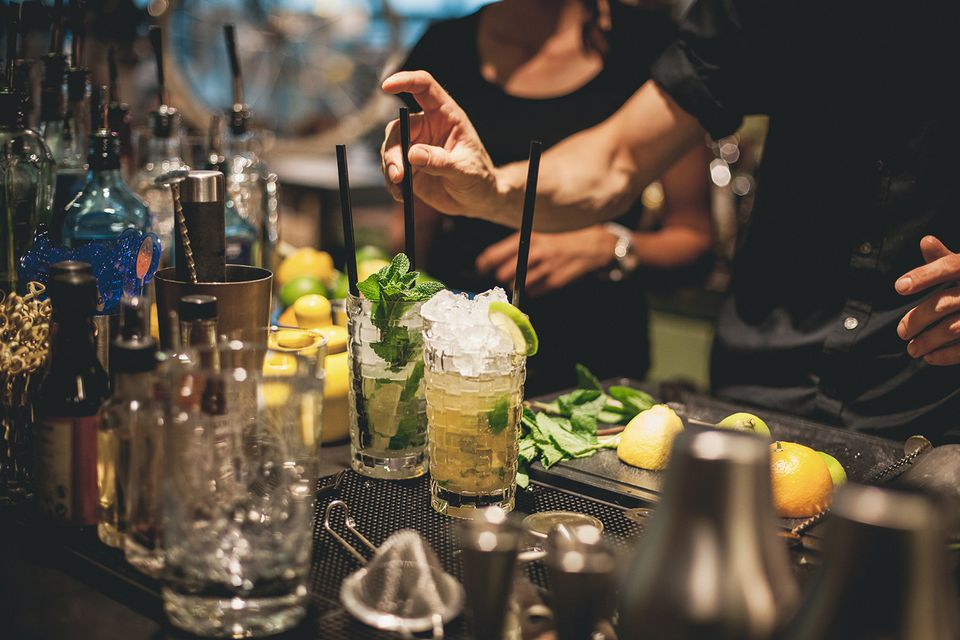 Bartending at a cocktail party
