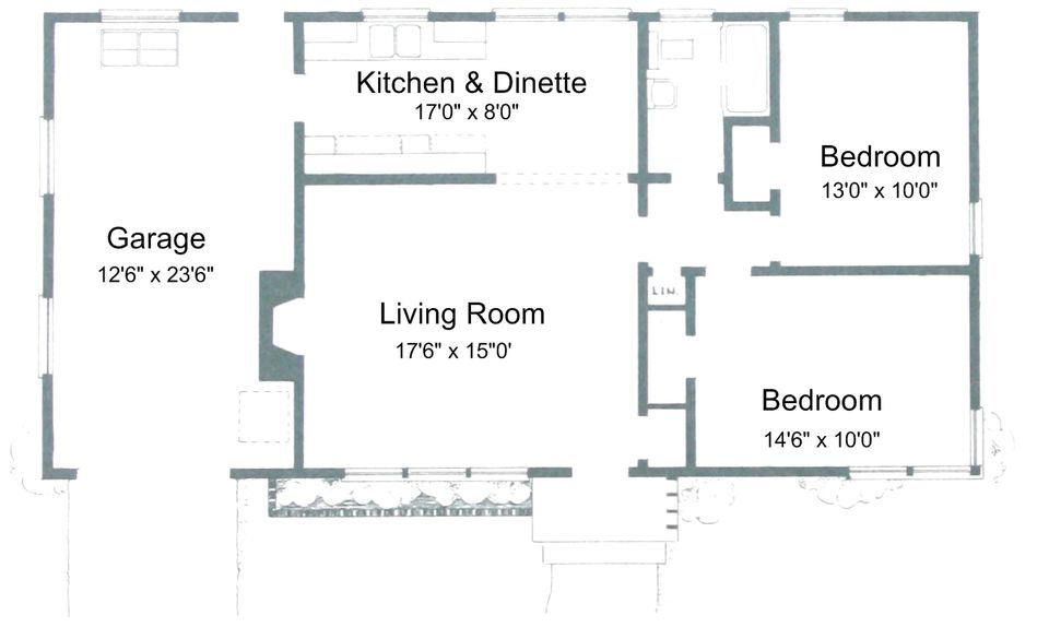 Plans for 2 Bedroom  1 Bathroom House. Free Small House Plans For Ideas or Just Dreaming