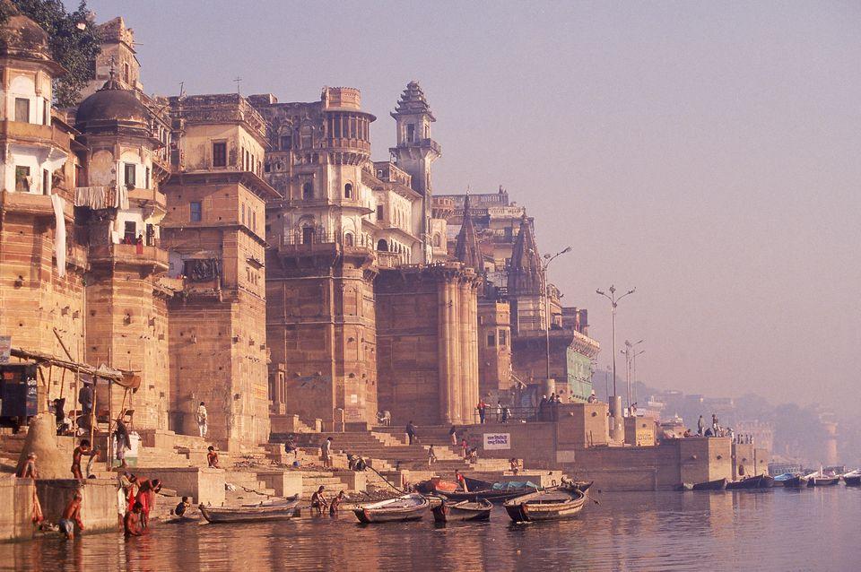 Varanasi ghats.