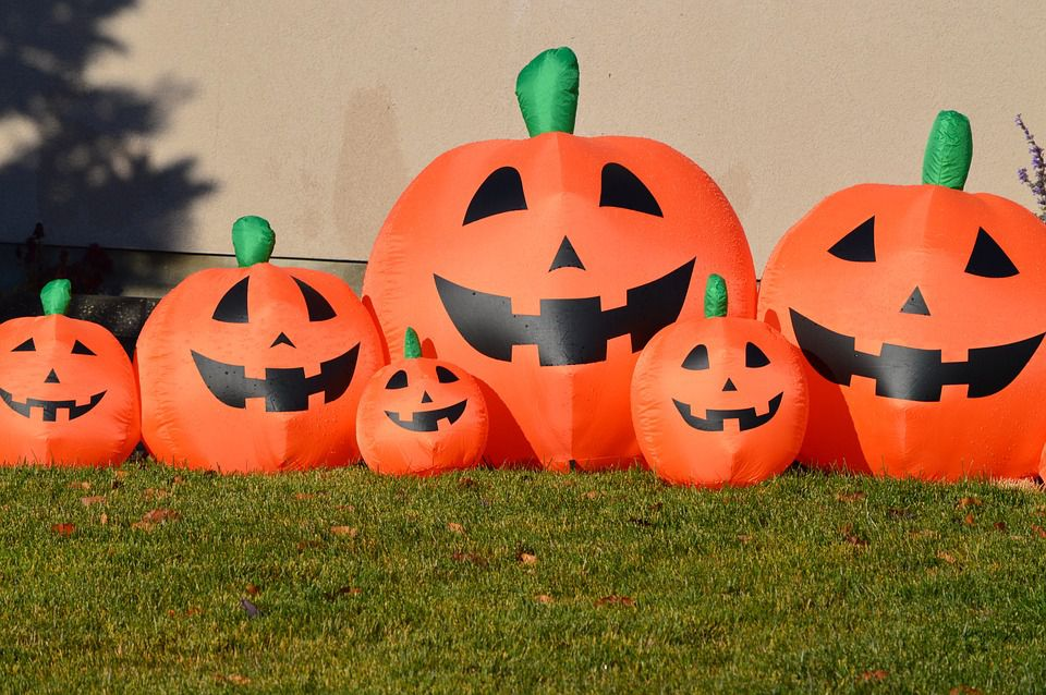 inflatable pumpkin decorations