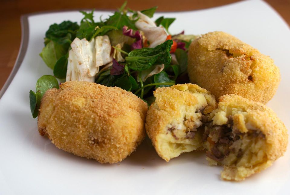A plate of papa rellena