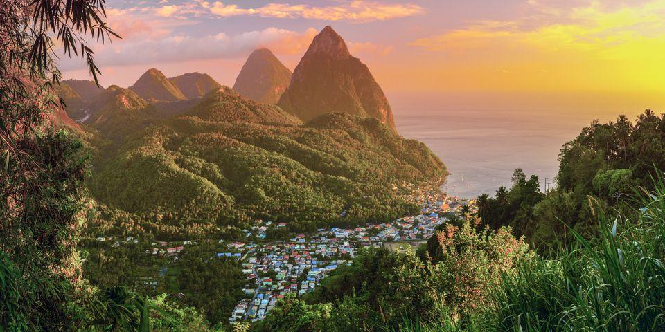 St Lucia, Petit and Gros Piton Mountains