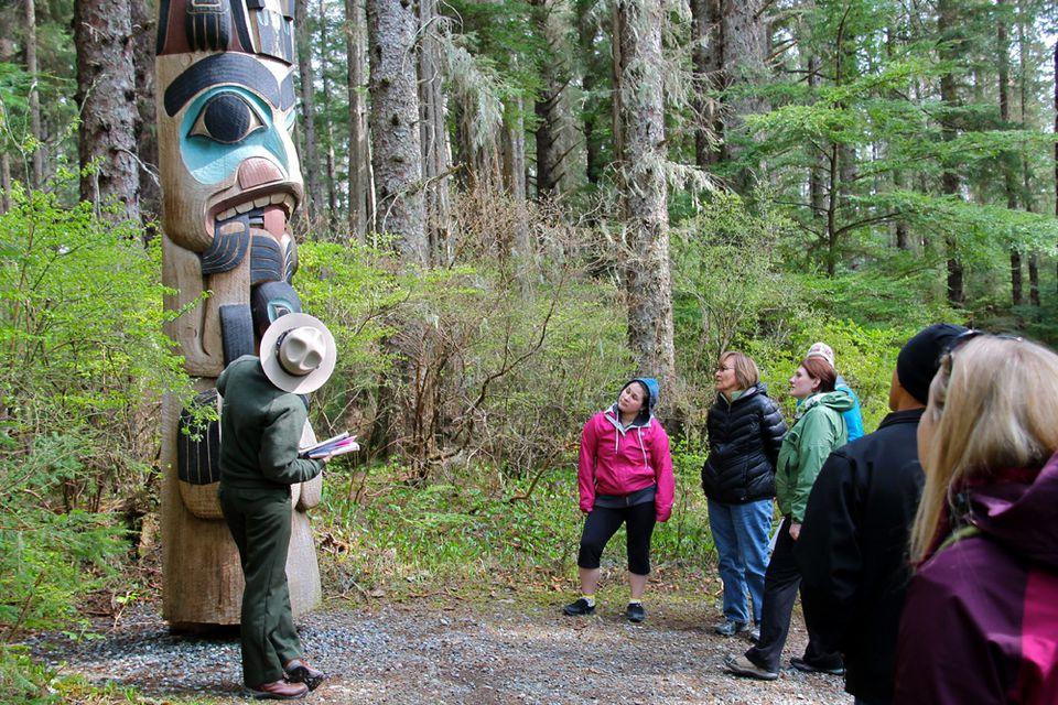 Photo of Ranger-led Totem Pole Tour of Sitka National Historical Park in Alaska