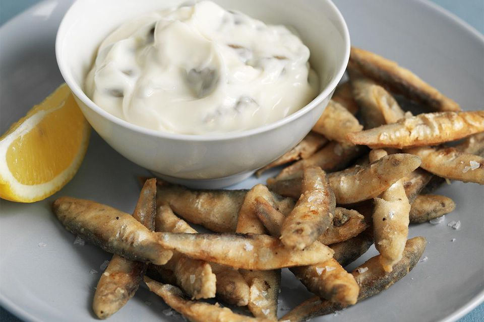 Deep-fried whitebait