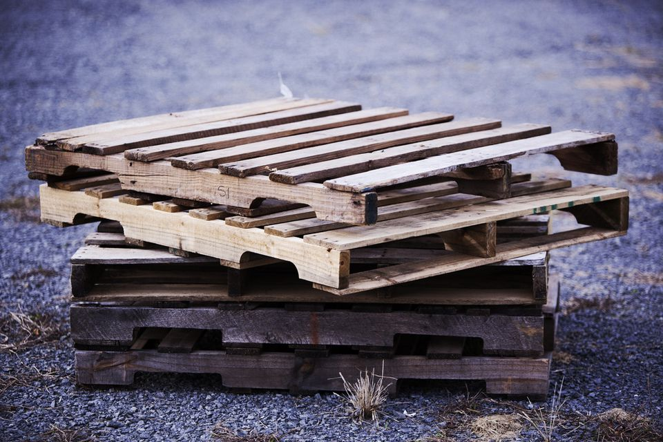 Stack of Project-Ready Wood Pallets