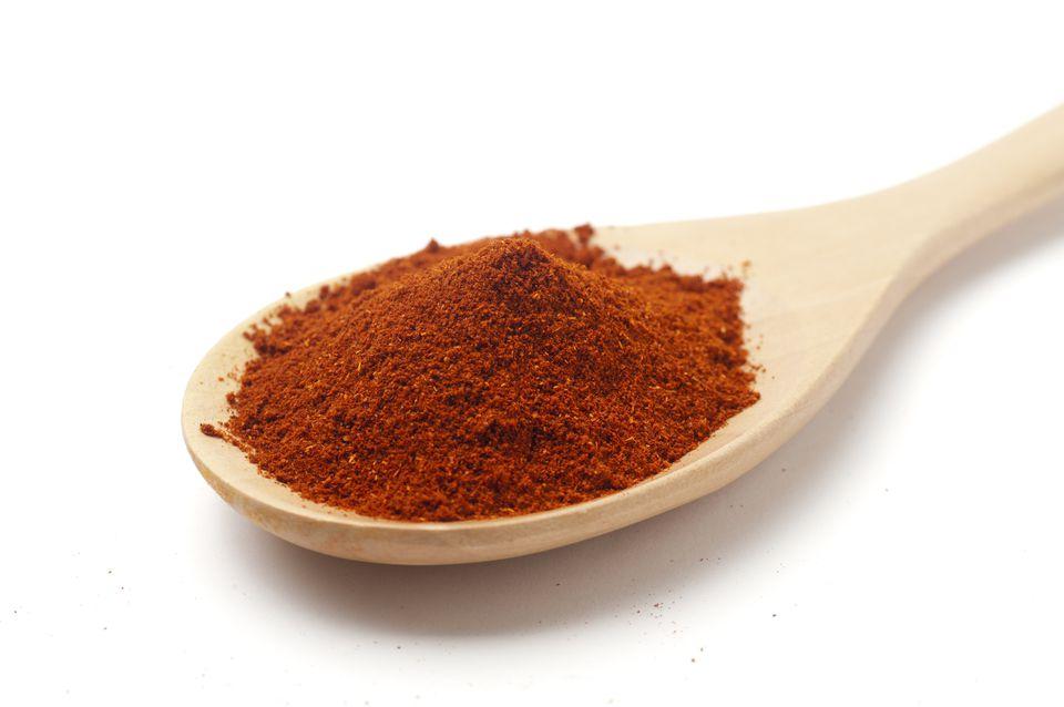 Paprika on spoon