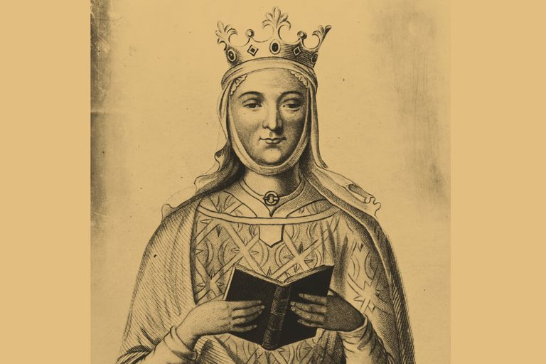 Engraving based on Eleanor of Aquitaine's tomb