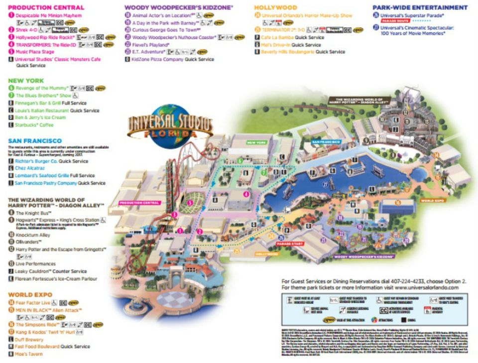 Maps Of Universal Orlando Resorts Parks And Hotels