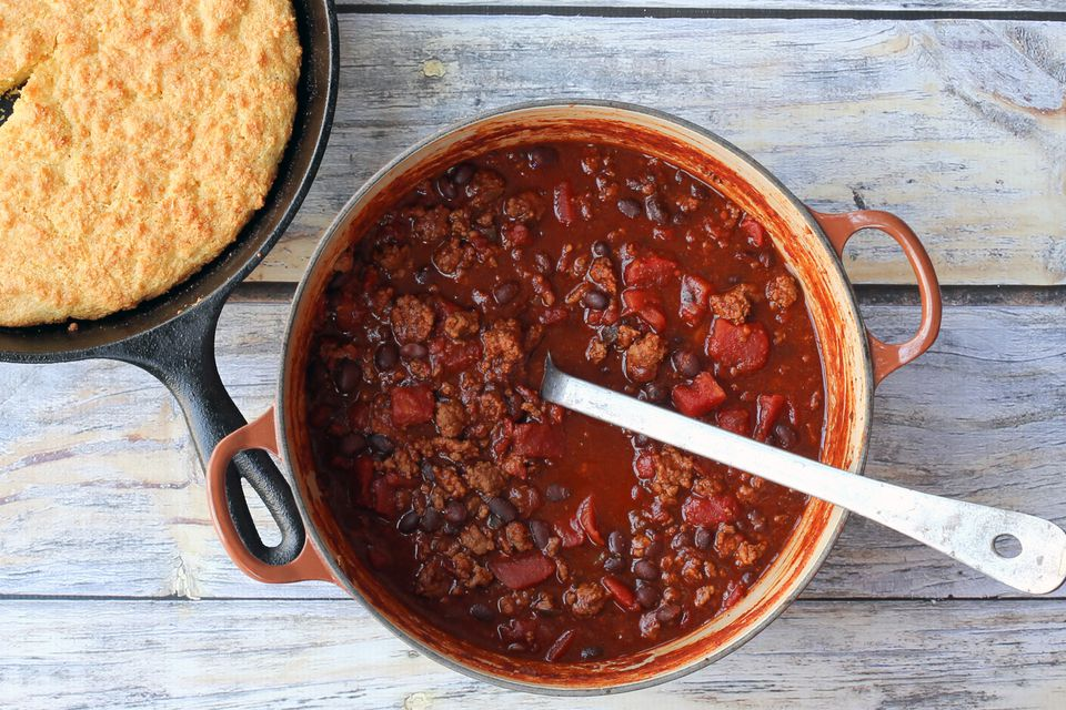 30 Minute Chili with Cornbread