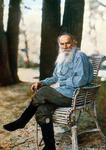 Leo Tolstoy, Yasnaya Polyana estate in May 1908