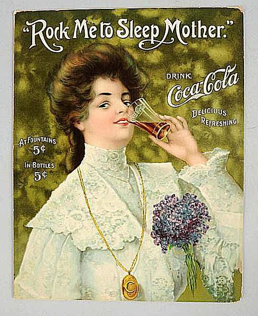 "1906 Coca-Cola ""Rock Me to Sleep Mother"" Sheet Music"