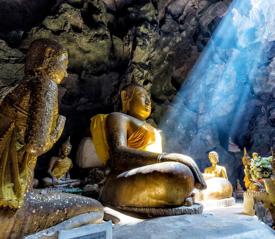 Buddhist temple in a cave
