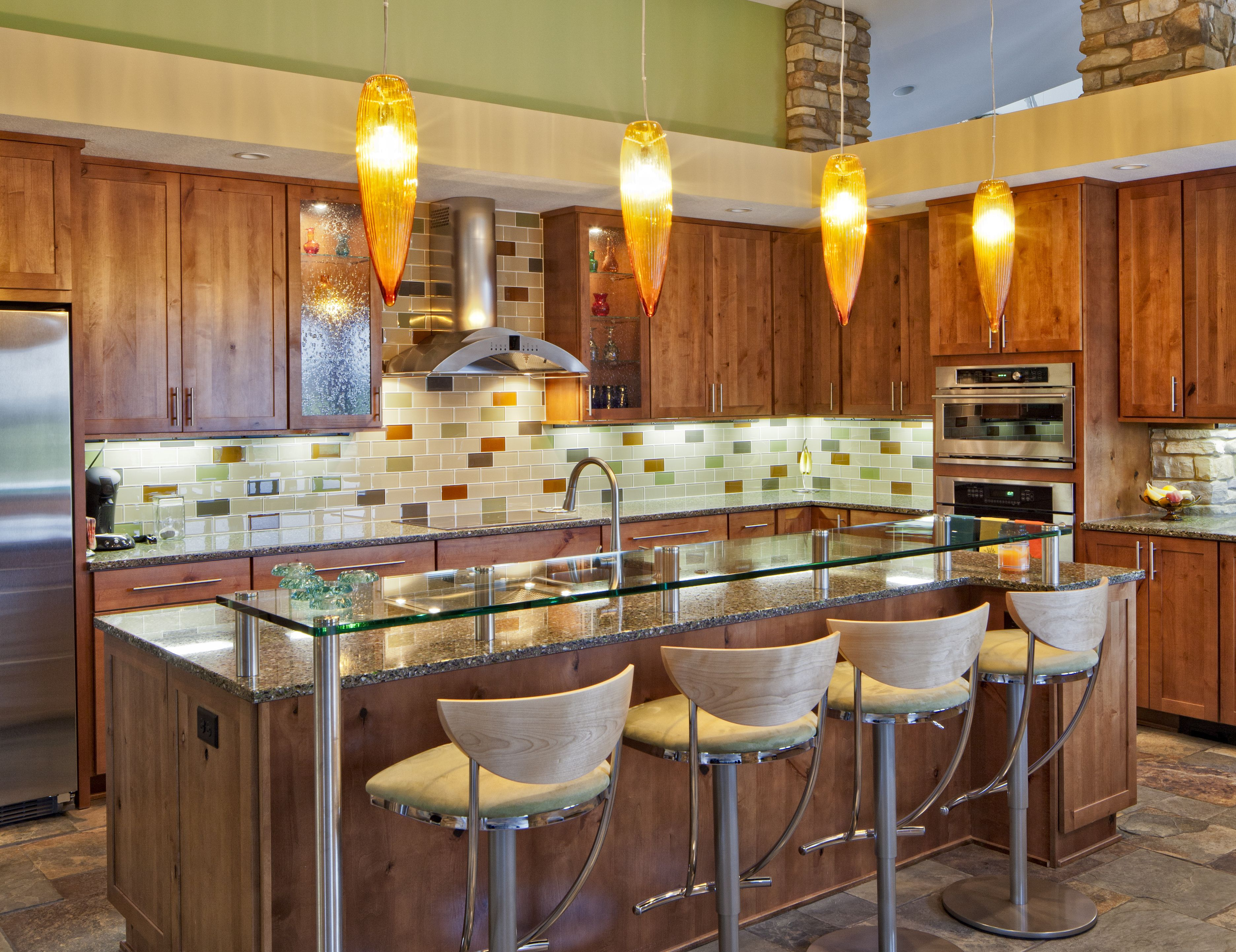 Modern Kitchen With Colorful Subway Tile 56a49fe85f9b58b7d0d7e2d7