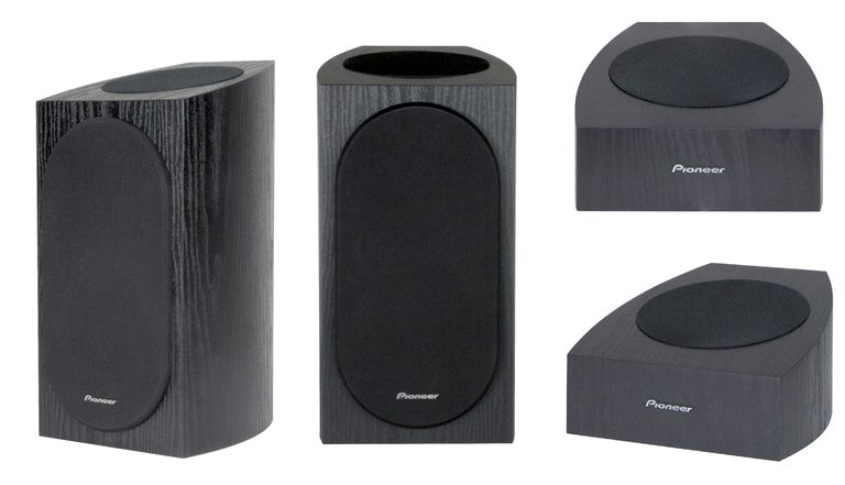 Pioneer SP-BS22A-LR (left) and SP-T22A-LR (right) Dolby Atmos Speakers