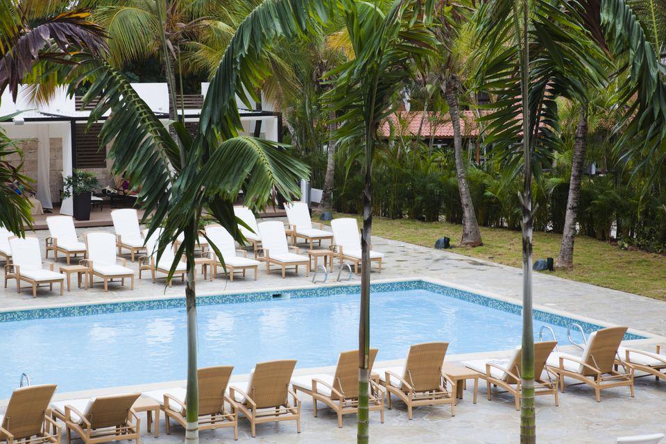 Swimming pool, Casa de Campo Resort, La Romana, Dominican Republic