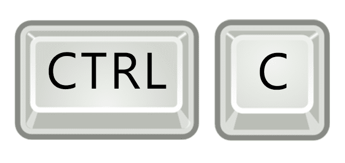 Illustration of the Ctrl-C keys