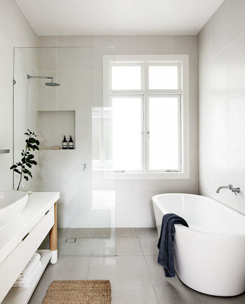 bathroom inspiration white tub walk in shower - Bathroom Inspiration