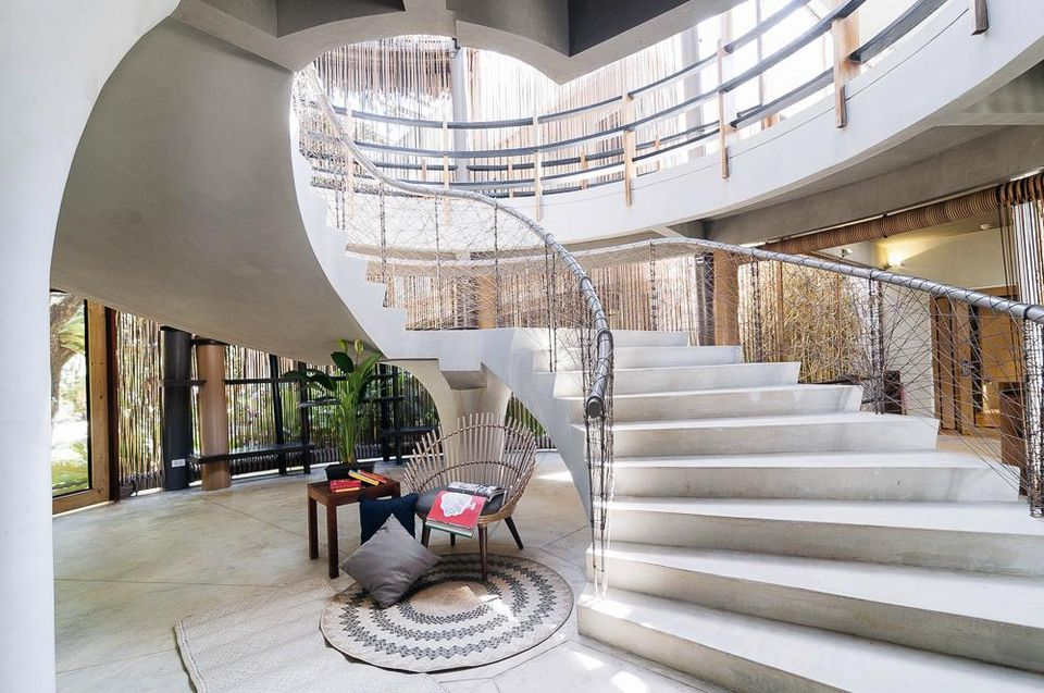 Spin Designer Hostel staircase