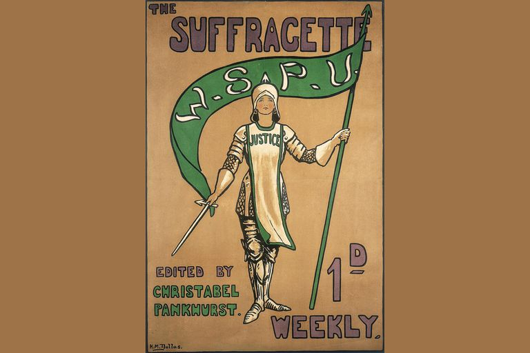 Poster advertising the Suffragette newspaper, 1912. Artist: Hilda Dallas