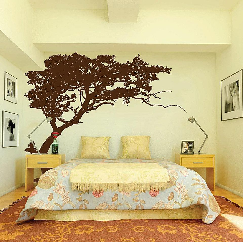 Tree wall stencil. 4 Ideas for Decorating a Big  Empty Wall