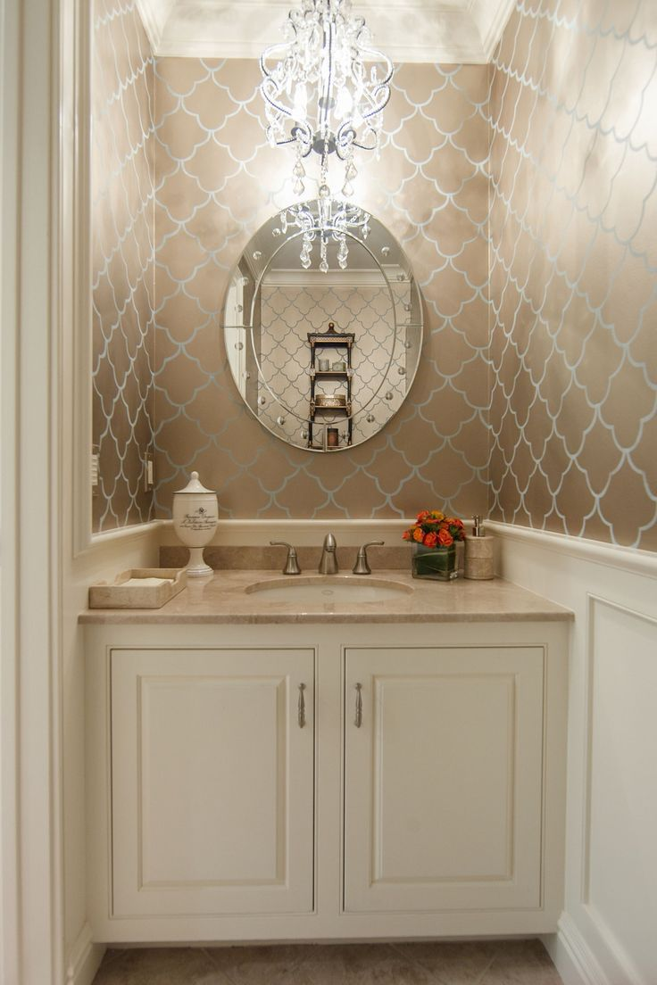 Glamorous Bathrooms 16 Glamorous Bathrooms With Wallpaper