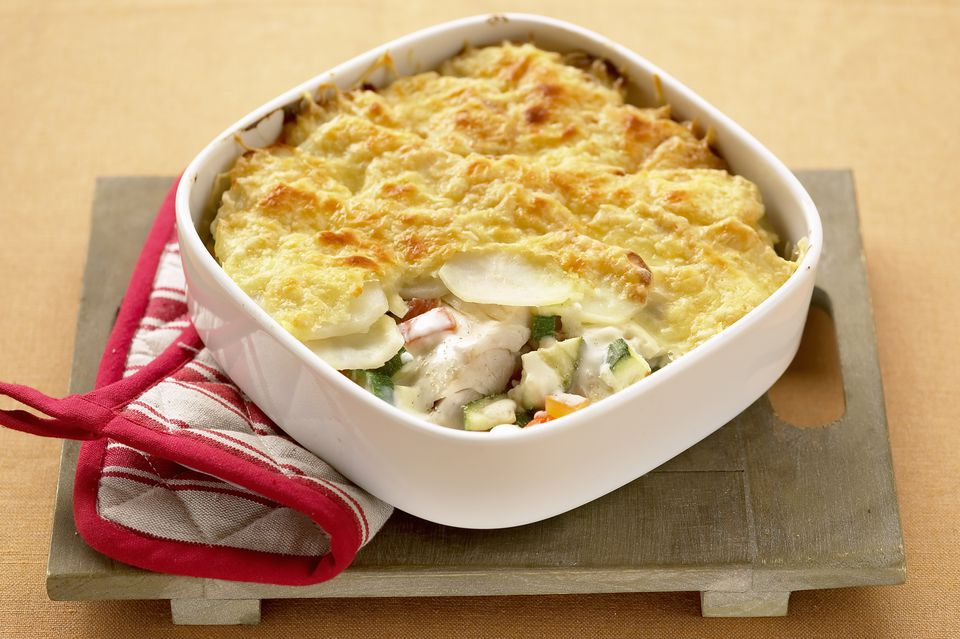 Seafood au gratin recipe with fish and crab or shrimp for Fish pie recipe