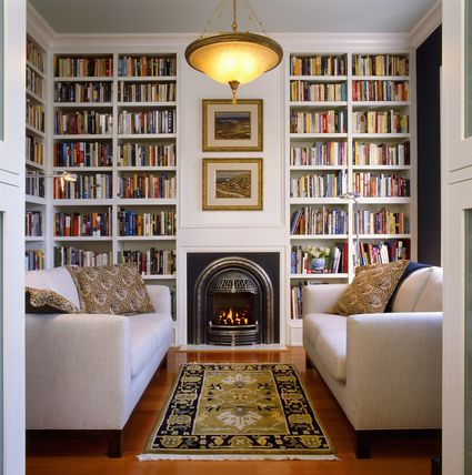 Choosing Home Library Paint Colors Lighting More - Creating home library
