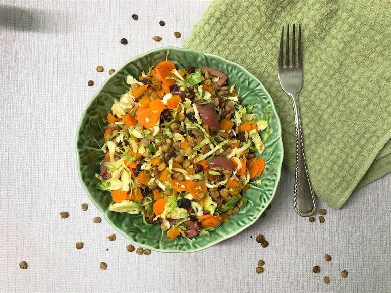 brussels sprouts lentil salad