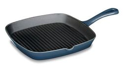 Cuisinart CI30-23BG Chef's Classic Enameled Cast Iron 9-1/4-Inch Square Grill Pan, Provencal Blue