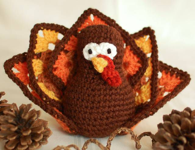 Granny Square Turkey FREE Crochet Pattern