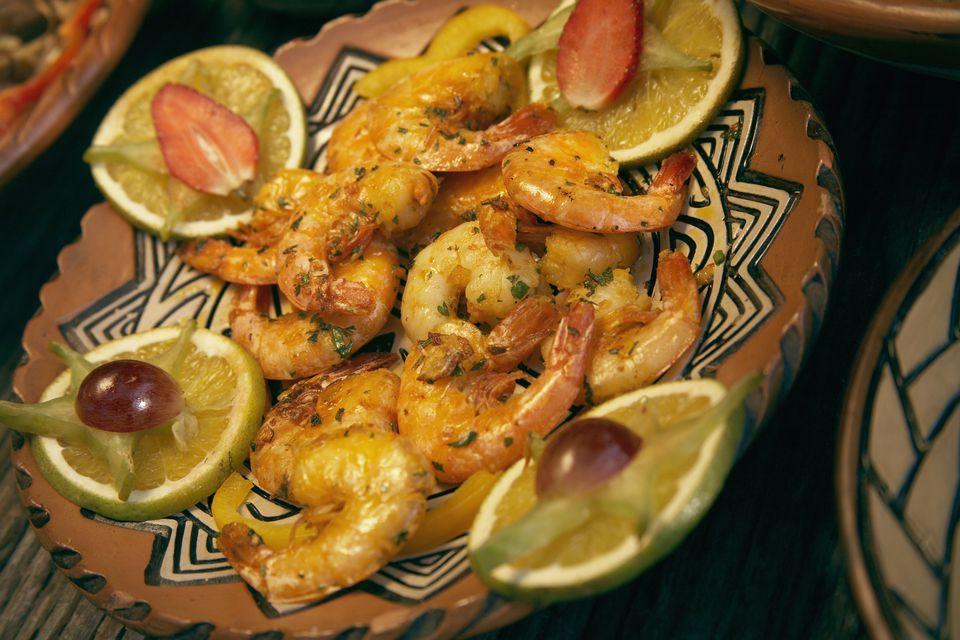 grilled shrimp a la plancha