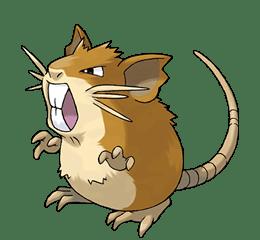 Raticate - Ken Sugimori's Official Artwork