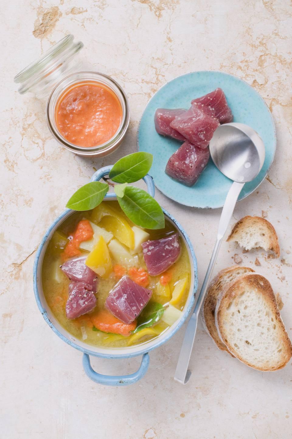 Basque tuna stew